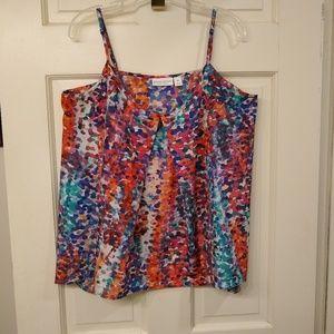 Bisou Bisou Michele Bohbot speckled print camisole